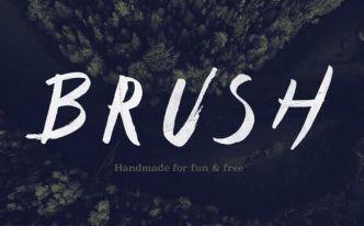 Type Brush Vector Font