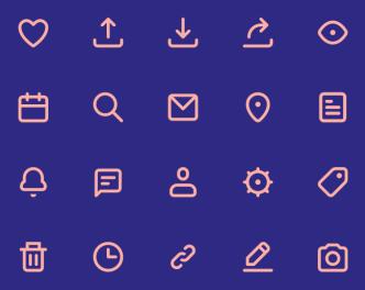 20 Nice Line UI Icons SVG