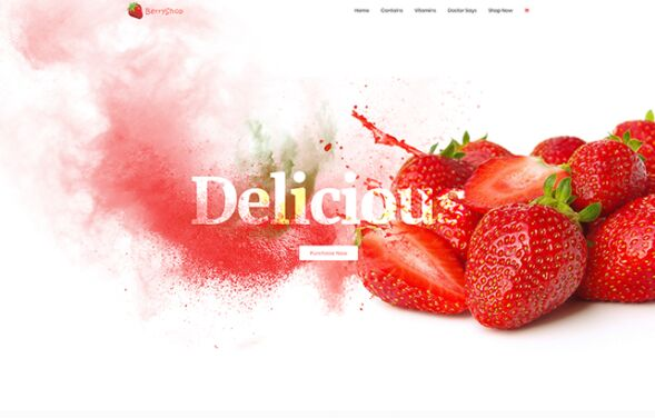 Delicious Landing Page Template For Photoshop