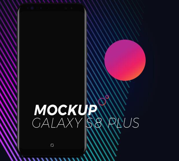 Dark Galaxy S8 Plus Mockup PSD