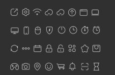 100 Thin Line Icons PSD