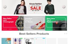 Fashion Online Store UI PSD