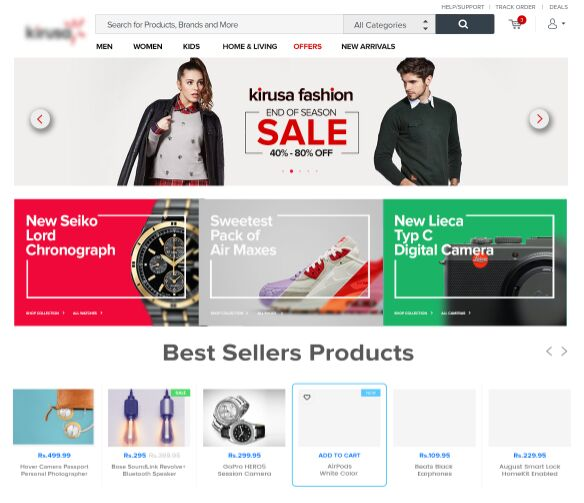 Fashion Online Store UI PSD
