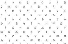 Minimal Camping Icons Vector