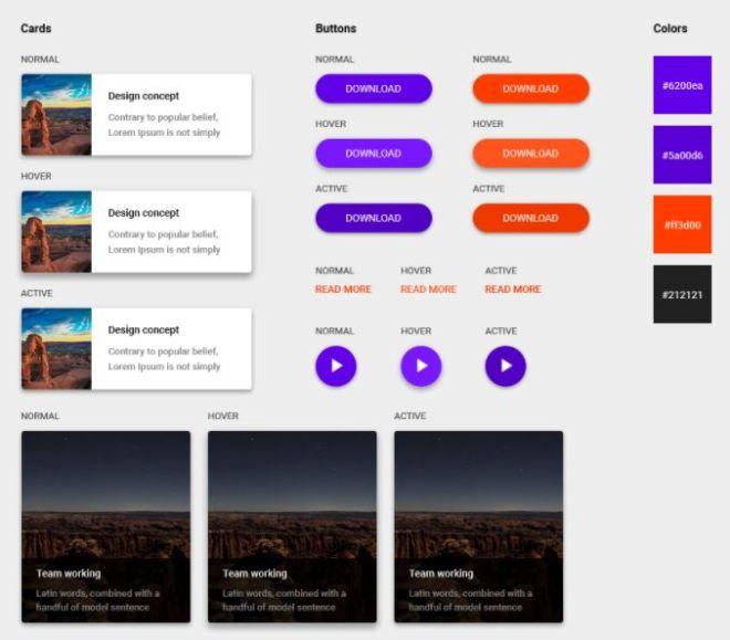 Modern Landing Page & UI Kit PSD