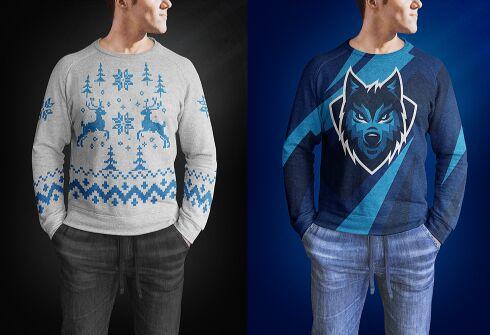 Mens Sweaters Mockup PSD