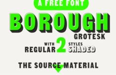 Borough Grotesk Font