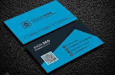 Elegant Corporate Business Card PSD Template (Front+Back)