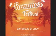 Summer Festival Flyer PSD Template