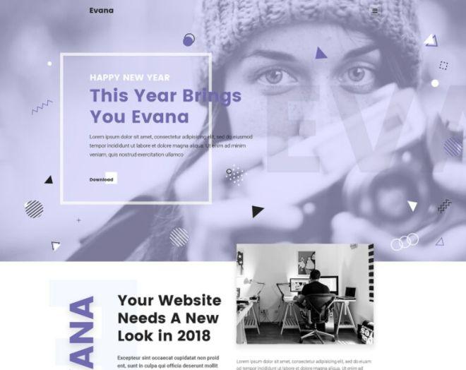 Evana Agency Web Template PSD