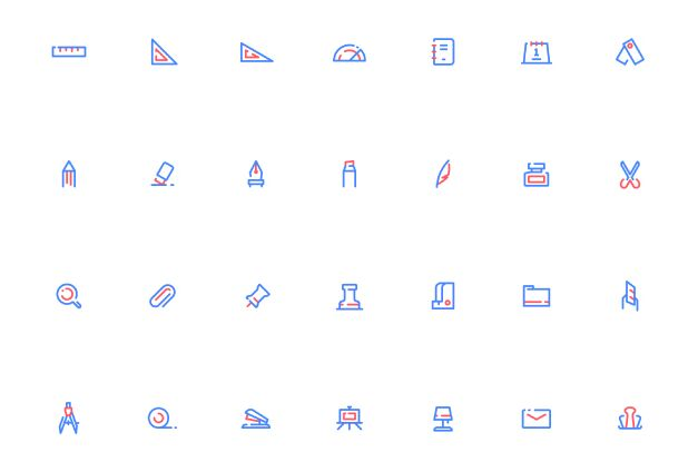 28 Minimal Stationery Icon For Sketch