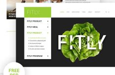 Fitly Fitness Landing Page PSD Template