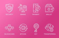 8 Cryptocurrency Vector Icons