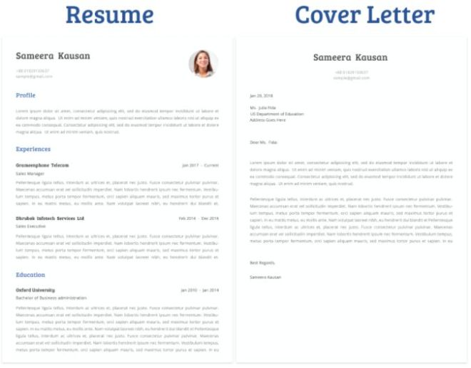 Minimal Clean Resume Cover Letter Template