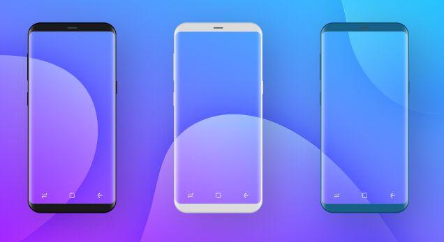 Transparent Samsung Galaxy S8 Vector Mockup