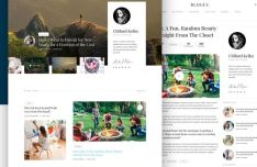 Blogly Minimal Clean Blog Theme Sketch