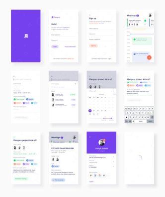 Planguru Mobile UI Kit For Sketch