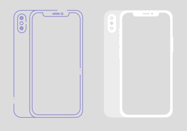 Free Minimal iPhone X Wireframe Template Vector - TitanUI