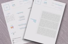 A4 Size Resume & Cover Letter PSD Mockup