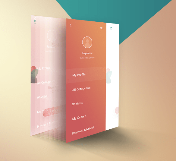 Perspective App Screen PSD Template