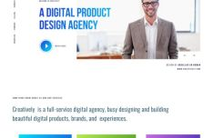 Creatively Agency Landing Page Template For Sketch