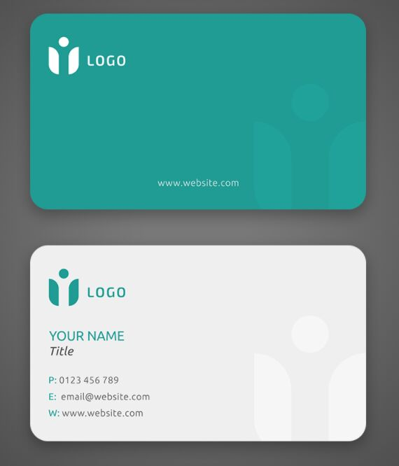 Minimal Clean ECO Business Card Template PSD
