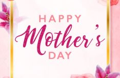 Mother's Day Greeting Card Template Vector