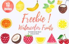 17 Watercolor Fruits