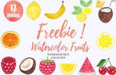 17 Watercolor Fruits