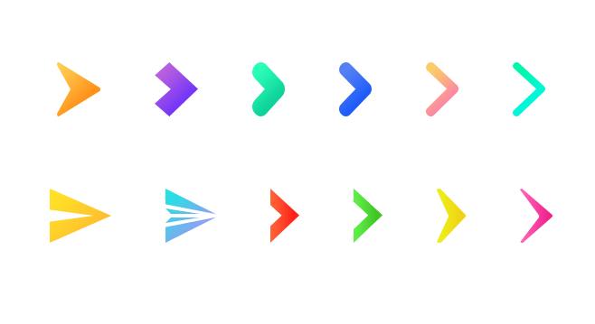 12 Minimal Arrow Icons PSD