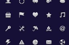 20 Customizable PSD Icons