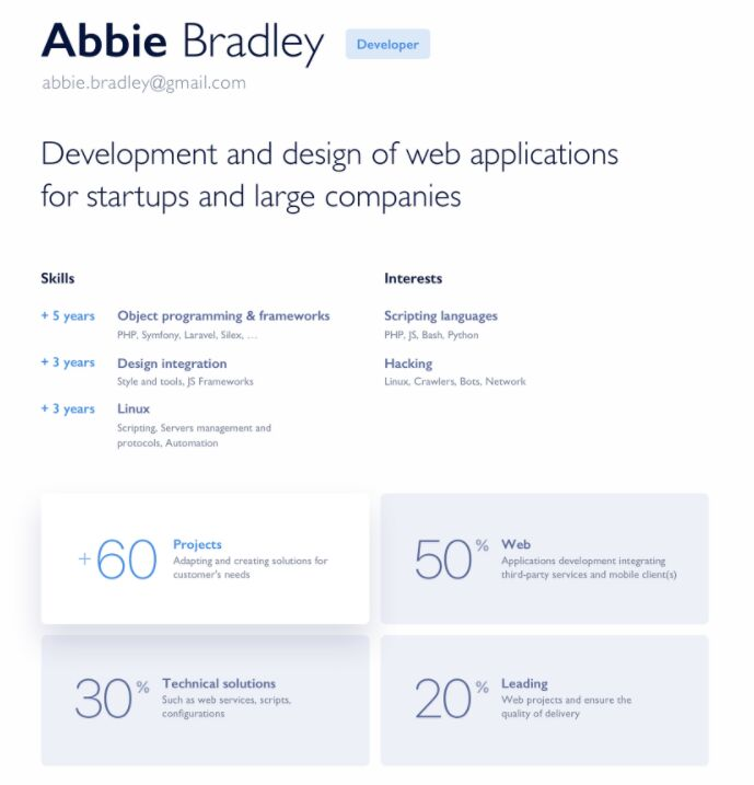Free Minimal Resume Template For Sketch And Photoshop Titanui