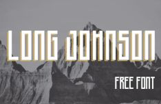 Long Johnson Geomethic Font
