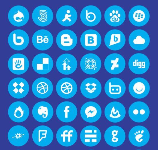 112 Circular Social Icons (AI+XD)