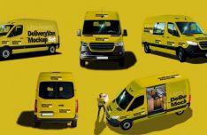 6 Delivery Van PSD Mockups