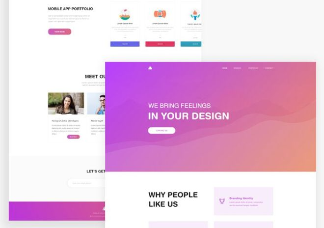 Minimal Agency Landing Page For XD