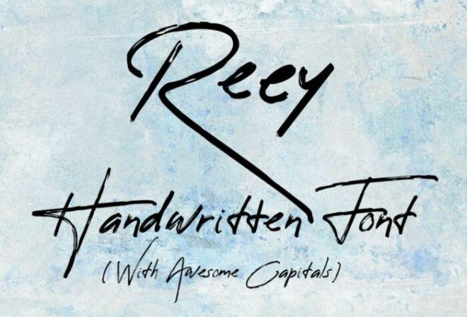 Reey Handwritten Script Font