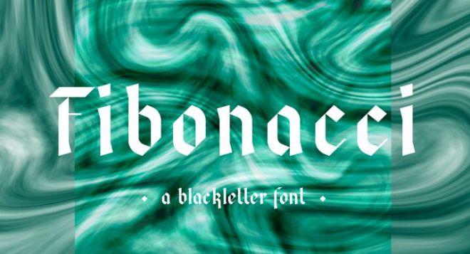 Fibonacci Blackletter Font