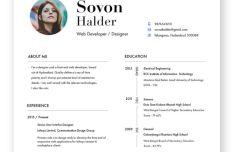 Minimal Designer Resume CV Template