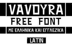 VAVOURA Creative Font