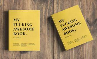 Realistic Book Cover On Desk PSD Mockup