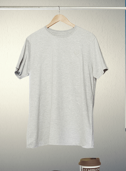 Free Grey Hanging T Shirt PSD Mockup TitanUI
