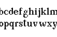 Bodoni Pxl Pixel Font