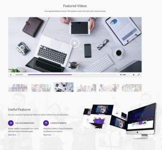 Professional Business Agency Web Templates PSD