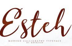 Esteh Modern Script Font