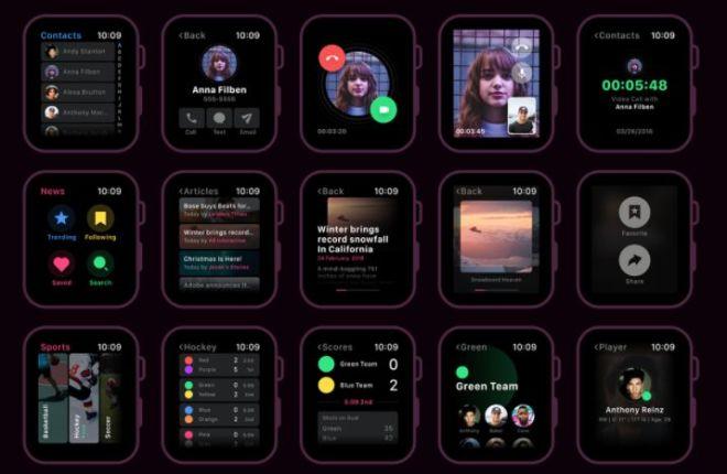Apple Watch UI Kit For XD