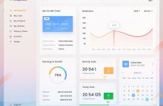 Light Clean Admin Dashboard PSD Template