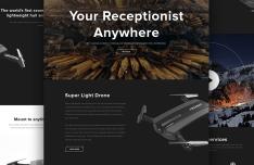 Dark Light Landing Page PSD Templates