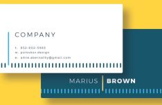 Minimal Creative Horizontal Business Card PSD Template