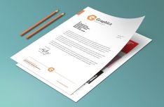 A4 Paper & Letterhead PSD Mockup